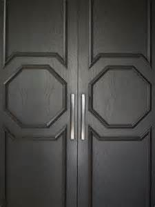 Octagon Window Treatments - black closet doors contemporary home exterior greg natale