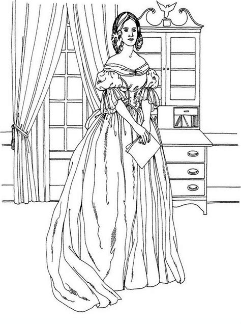 coloring pages for adults victorian victorian woman vintage fashion challenging coloring pages