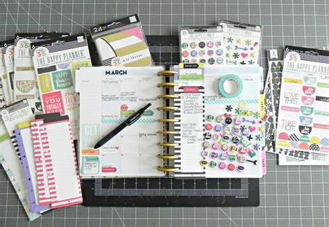 create 365 the happy planner a march monthly spread me my big ideas