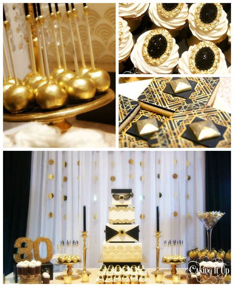 great gatsby themed decorations kara s ideas great gatsby themed thirtieth birthday