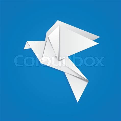 pigeon origami origami pigeon stock vector colourbox