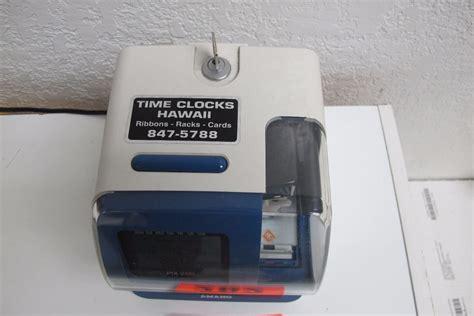 Amano Pix 200 Time Clock amano pix 200 time clock w key oahu auctions