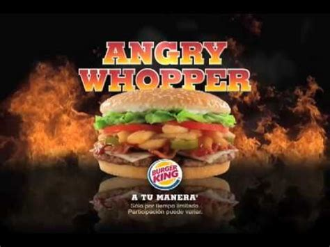 burger king angry whopper youtube