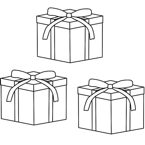 coloring pictures of christmas stuff gift coloring page coloring home