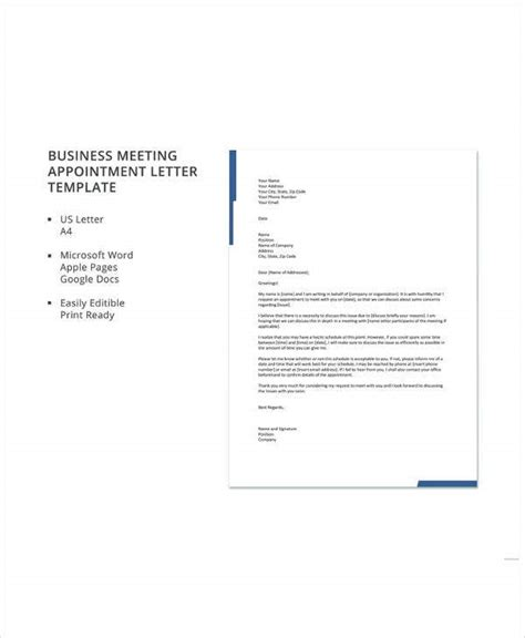 business letter format premium templates