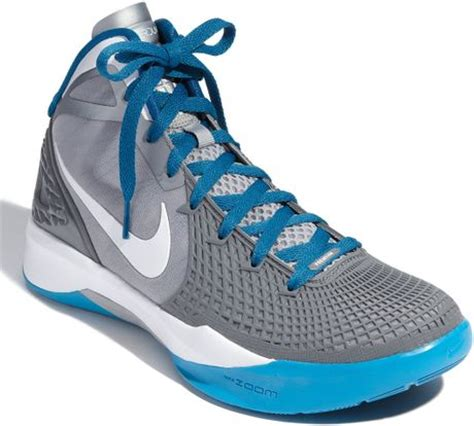 blue and grey nike basketball shoes nike air max hyperdunk basketball shoe in blue for