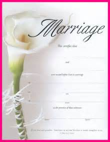 marriage certificate templates free 6 blank marriage certificate template