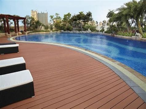 Wpc Flooring   Swimming Pool Youtube