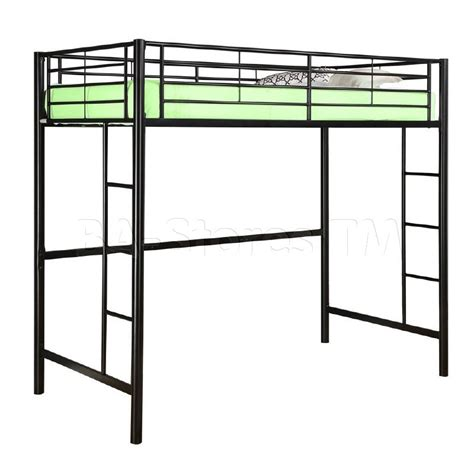 metal twin loft bed sunset metal twin loft bunk bed in black walker edison