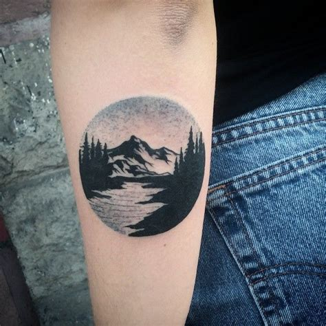 outdoor tattoo designs best 25 landscape ideas on mountain
