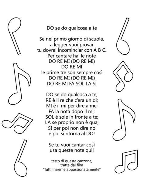 note musicali in lettere filastrocca delle note musicali le maestre