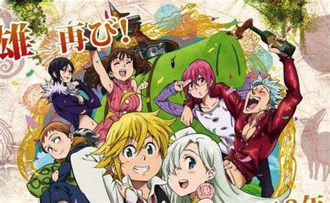 theme line nanatsu no taizai anime the seven deadly sins akan kembali ke layar kaca