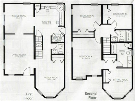 4 bedroom 2 bath house floor plans 4 bedroom 2 story house plans 2 story master bedroom two