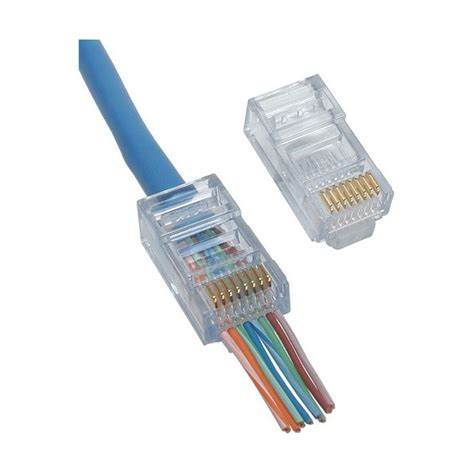 Cat 6 Rj 45 Connector By cat6 8p8c rj45 modular connectors terminate cat6 cables