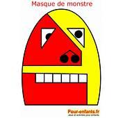 Masque De Monstre Carnaval Coloriage Enfant Masques