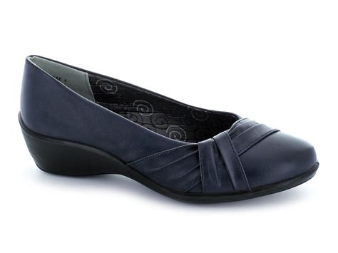 Comfort Wide Shoes by Comfort Plus Davina Womens Wide Fit Shoes Navy