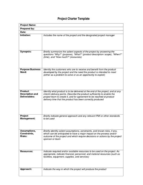 project charter document template best photos of sle charter template project charter
