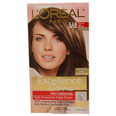 l oreal excellence creme protection color creme level 3 permanent medium ash half day leave application