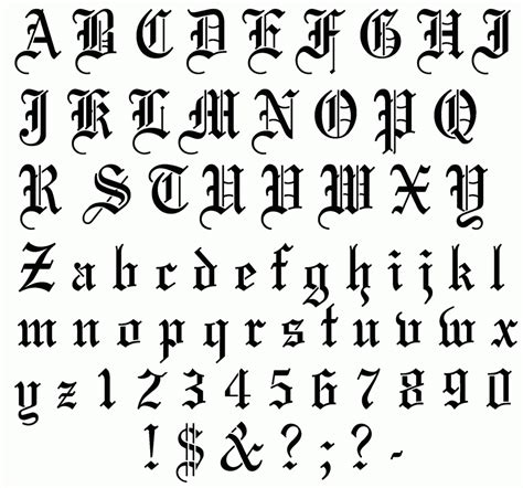 font design a to z english fonts a to z exciting old english lettering tattoo