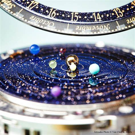 this astronomical watch accurately shows the solar system