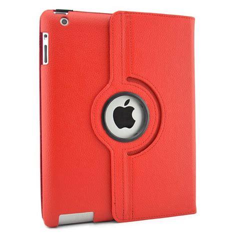fundas para ipad apple funda giratoria 360 186 para apple ipad 2 3 4 rojo funda de