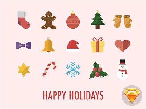 printable christmas icons happy holidays icons by maximilian hennebach dribbble