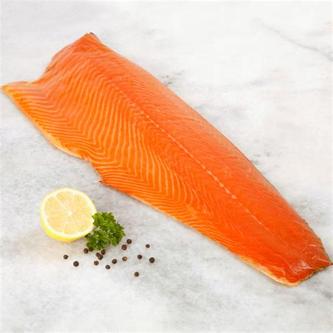Shelf Of Salmon by Smoked Salmon Side Unsliced