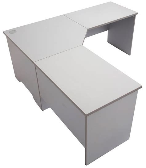 Express Grey Corner Desk Workstation Office Stock Gray Corner Desk