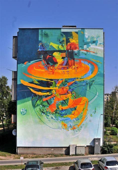 robert proch modern man  mural  turek poland