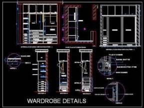 sliding wardrobe cupboard working drawing autocad file