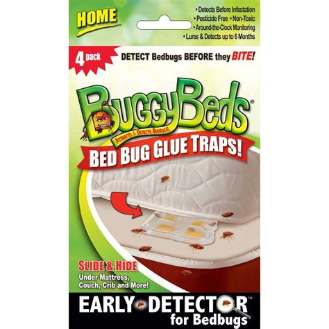 buggy beds buggybeds home bedbug glue traps detects and lures bedbugs 4 pack 40440 the home depot