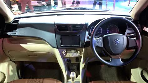 Maruti Suzuki Dzire Automatic Maruti Dzire Auto Gear Shift Dashboard At Auto Expo