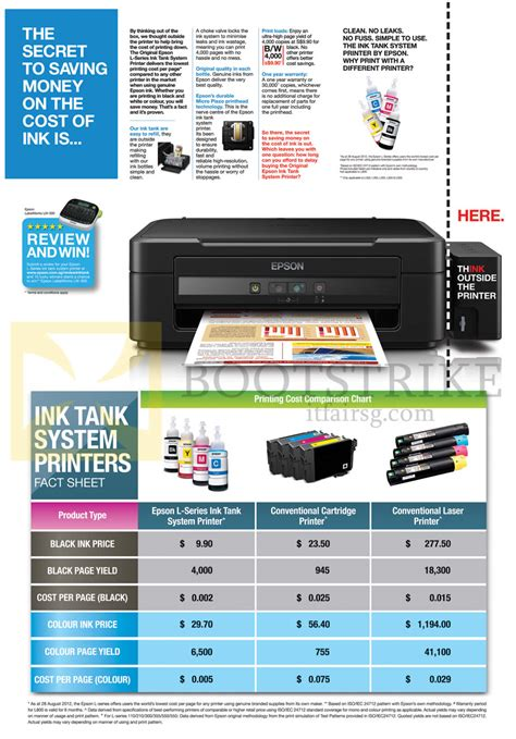 Cartridge Printer Epson L210 epson printer features ink cartridge it show 2014 price list brochure flyer image