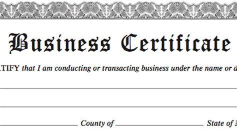 certificate of partnership template ny business certificates your quot doing business as