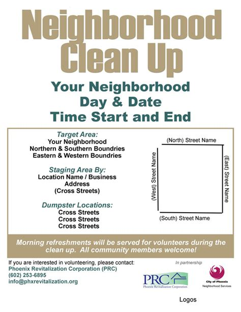 Community Clean Up Flyer Template Templates Station Community Flyer Template