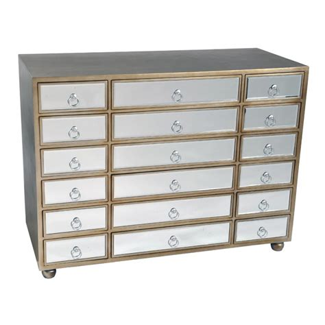Antique Mirrored Chest Of Drawers by Antique Silver Wooden Mirrored Cabinet 6 12 Chest Of Drawers