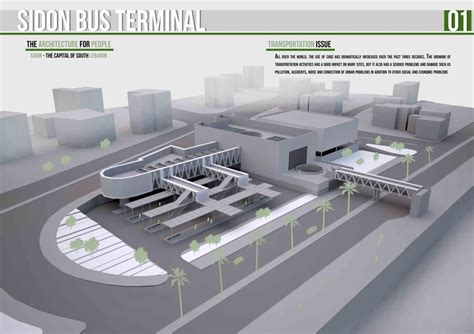 design concept of bus terminal presidents medals sidon bus terminal architectural
