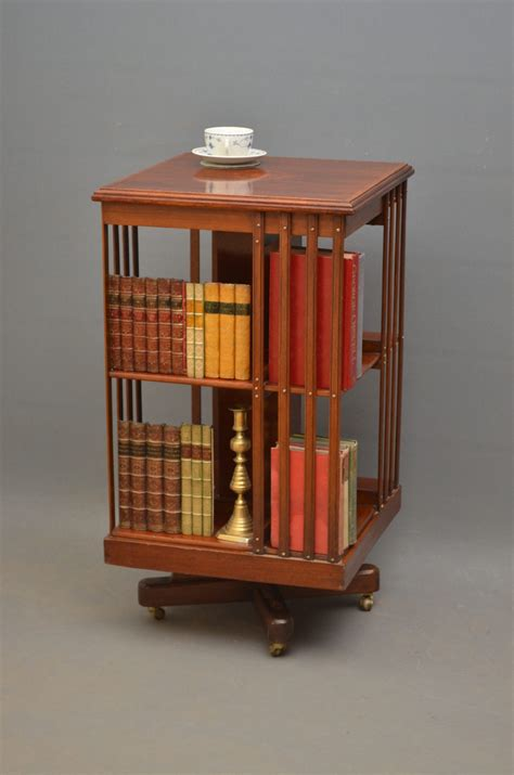 Edwardian Mahogany Revolving Bookcase Antiques Atlas Revolving Bookshelves
