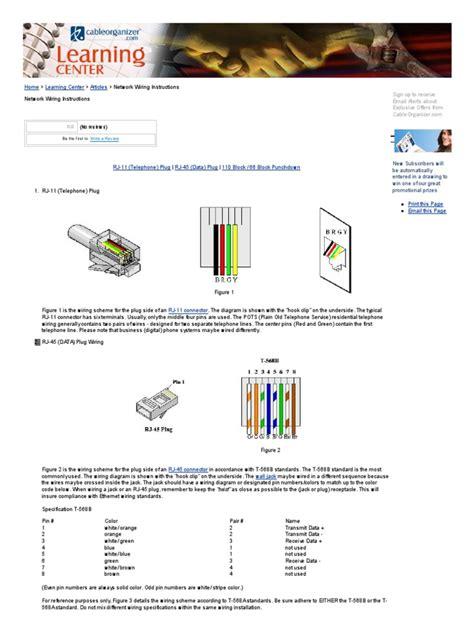rj12 cat5 wiring diagram cat free printable