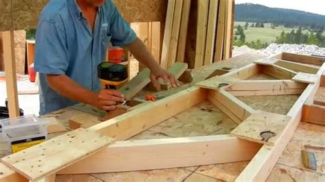 Pole Barn House by Building Roof Trusses Youtube