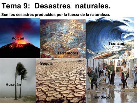 imagenes de desastres naturales y antropicos los riesgos naturales tema 9