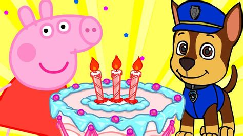 peppa pig feliz cumpleaos cumplea 209 os feliz peppa pig patrulla canina minions paw patrol bob es infantil