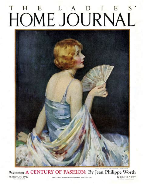 1927 home journal cover of the february 1927