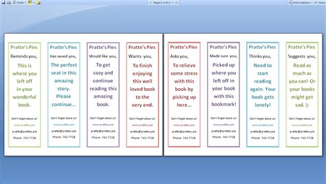 bookmark template for word bookmark template word wordscrawl