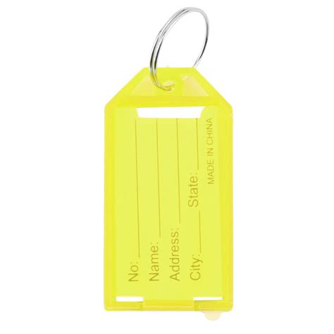 printable plastic key tags 1 x plastic key tags key rings id identity tags rack name
