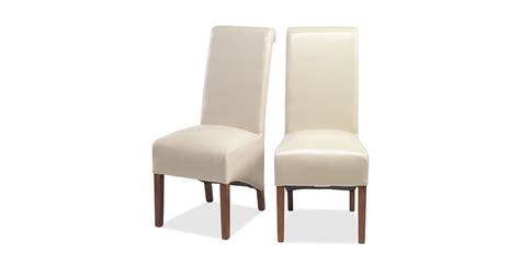 beige dining chairs uk cuba bonded leather dining chairs beige pair lifestyle