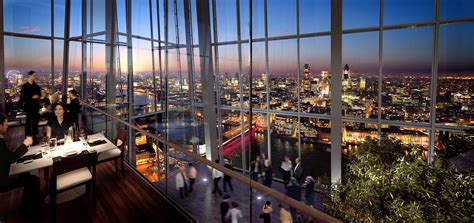 bar at the top of the shard spectacular views for diners at shard restaurants eat out magazine