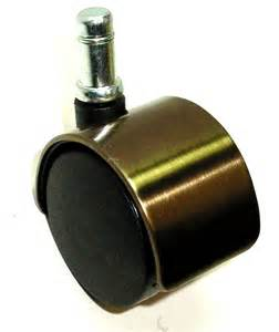 one 2 quot wheel furniture caster with brushed brass