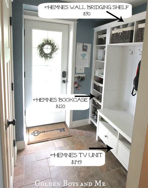golden boys and me kitchen island ikea hack golden boys and me mudroom repurposed ikea hemnes