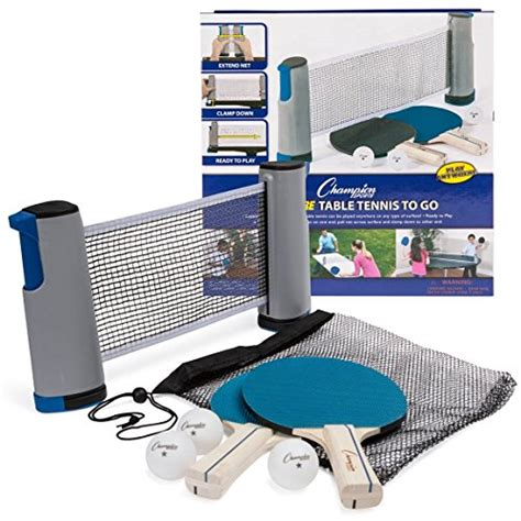 table tennis to go chion sports anywhere table tennis to go set flyers